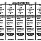 Use this daily behavior log in a home folder or binder to communicate with families about student behavior and choices in school.  The super-star t...