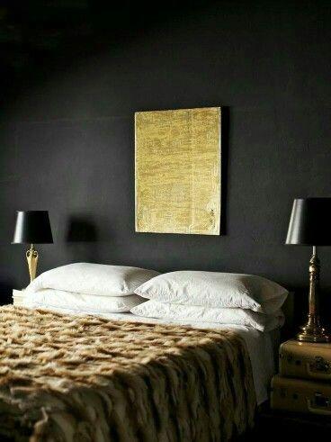 Dark cosy bedroom