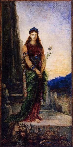 Helena en los muros de Troya, 1885 - Gustave Moreau