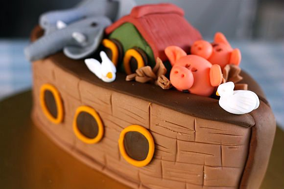 Noah's ark...just because i LOVE anything and everything about the ark!!  sweet piggies