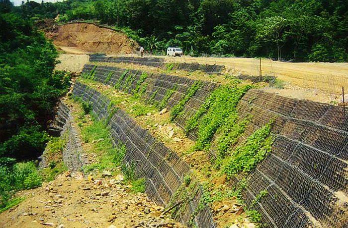 Подпорные стены: Система Зеленый Террамеш