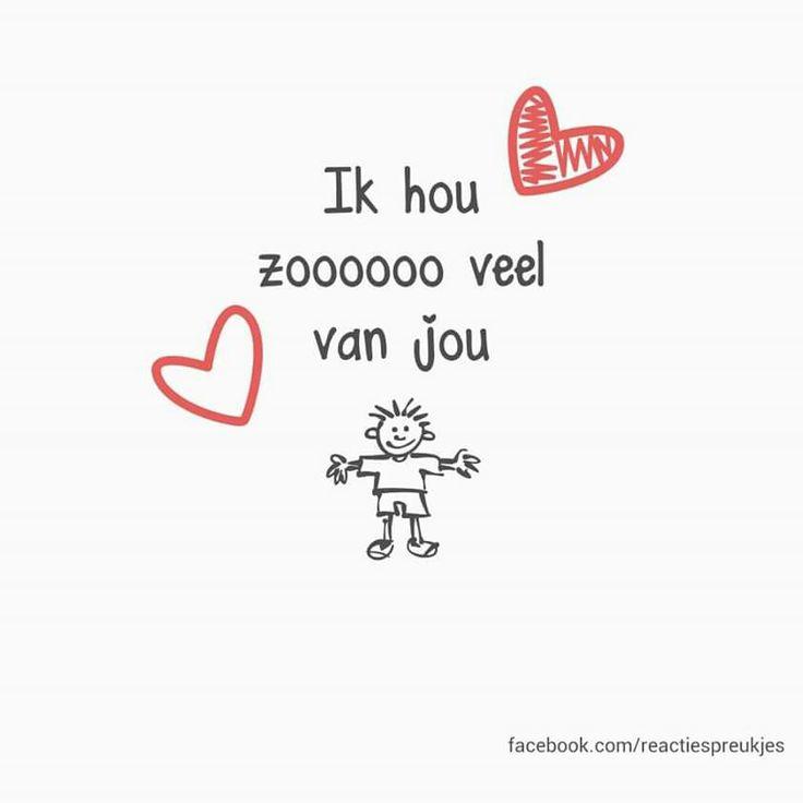 Ik hou zoooooo veel van jou #liefde #vriendschap #kaartje