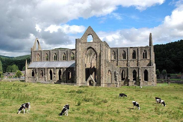 Gothic Monastery Ruins in France | Gothic Cistercian Abbey Ruins on the River Wye in South Wales