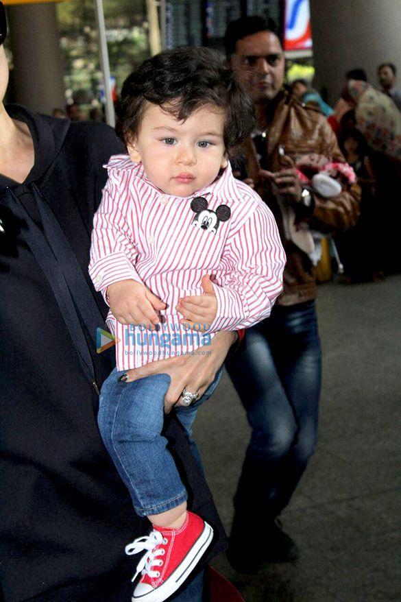 Kareena Kapoor Khan And Her Son Taimur Ali Khan Snapped Returning From London Kareena Kapoor Khan Taimur Ali Khan Kareena Kapoor