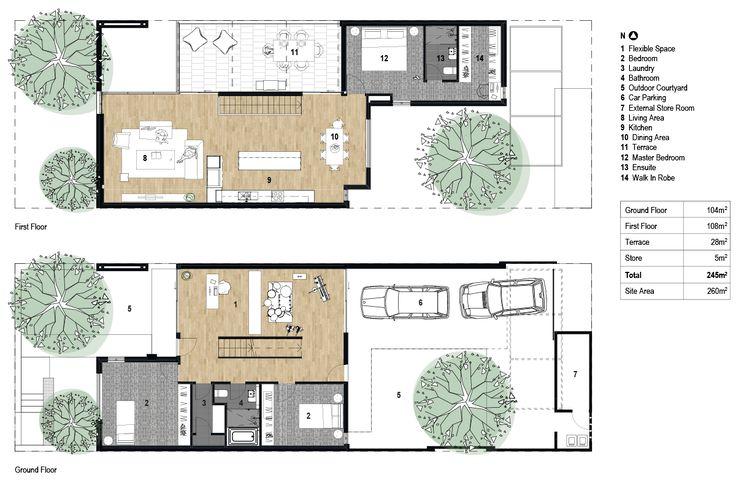 29 best townhouse floor plans images on pinterest floor for 3 bedroom townhouse plans