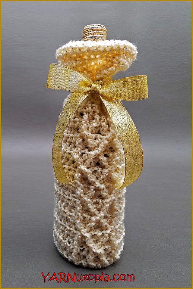 Crochet Tutorial: Sparkling Wine Beverage Bag | YARNutopia by Nadia Fuad