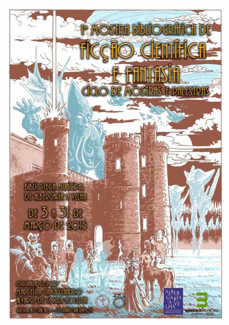 Folheto da I Mostra Bibliográfica de Ficção Científica - Albergaria-a-Velha Março 2015 Autores portugueses