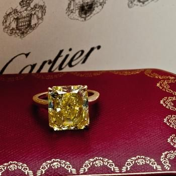 11ct Cartier Yellow Diamond. Amazing!