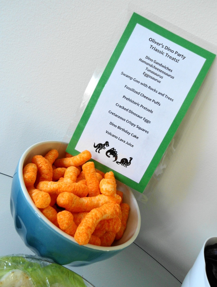Food And Menu Idea For A Dinosaur Party Like The Labels Printing At Work Tomorrow Lol