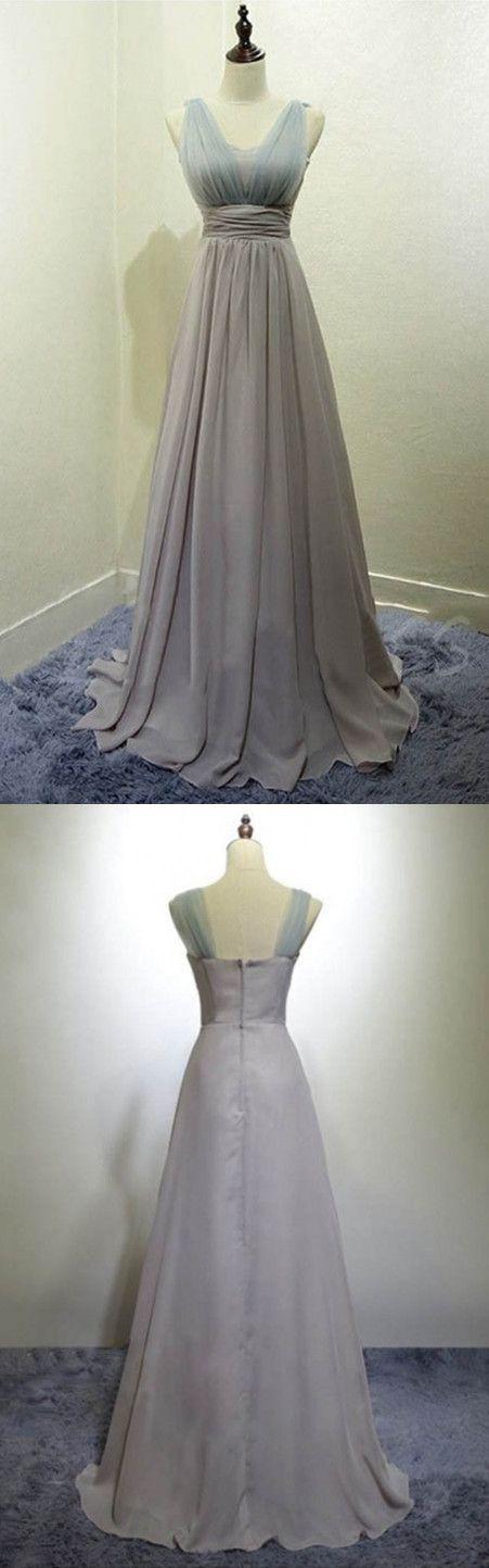 long bridesmaid dresses,chiffon bridesmaid dresses,simple bridesmaid dresses,silver bridesmaid dresses
