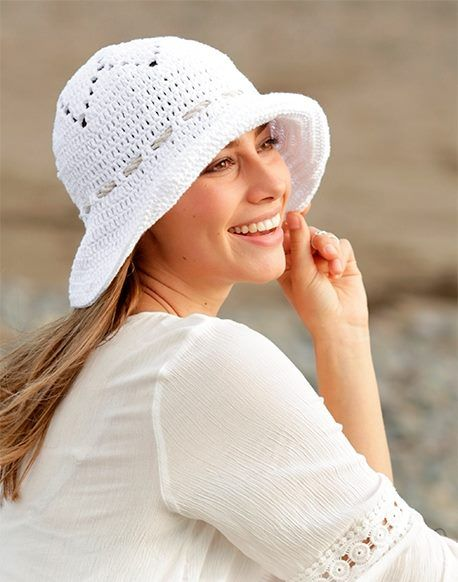 Super stylish crochet summer hat http://ift.tt/2oGL1eU