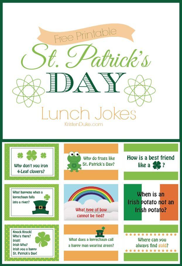 St. Patricks Day Lunch Jokes for Kids