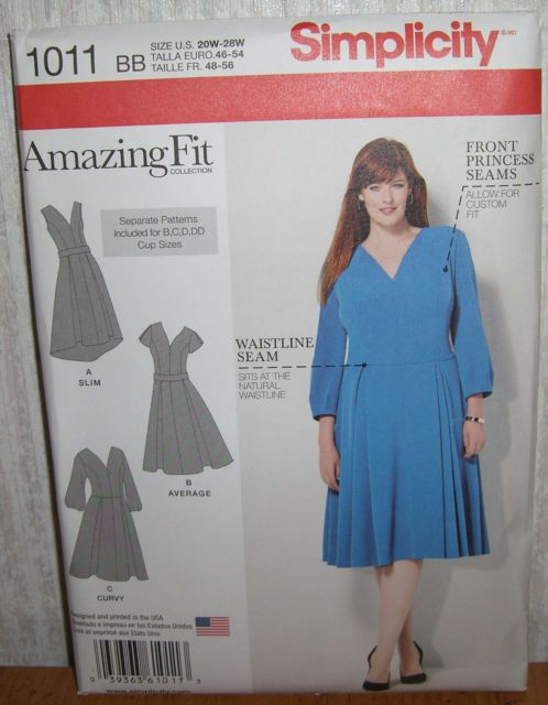 48595b73 Womens/Misses Amazing Fit Dresses Sewing Pattern/Simplicity 1011/SZ ...