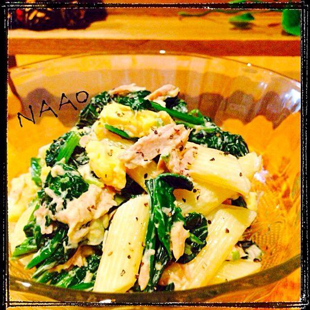♥️自分のお料理に作ったよ、作フォトしちゃいます〜(笑) 今日は、マカロニをペンネで作りましたでもこのサラダは、やっぱり、普通のマカロニ(小さめ)が合うと思います! - 165件のもぐもぐ - ♥️なおさんの料理 ♥️母の味ほうれん草とツナ卵マカロニサラダ by naohayuka224