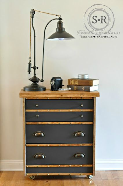 Serendipity Refined Blog: IKEA Rast Hack: Industrial Nightstand