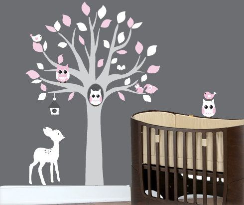 Baby wall decals  nursery tree wall decal art by couturedecals, $114.00