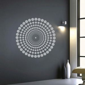 Above fireplace on darker board than wall. Contemporary Wall Decal  |  Trendy Wall Designs.com