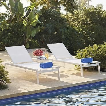 $799 for 2 Newport Set of Two Chaise Lounge Chairs