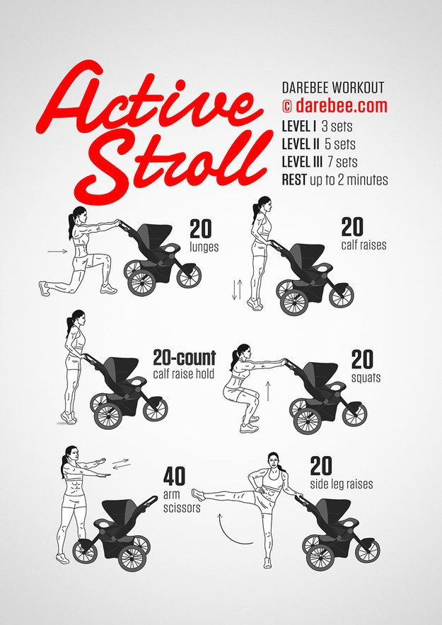 How to actually work out while pushing a stroller: | 19 Cheat Sheets For Every Kind Of Workout