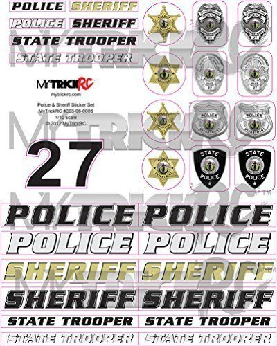 RC Police Sticker Set for 1/10th scale RC cars and trucks