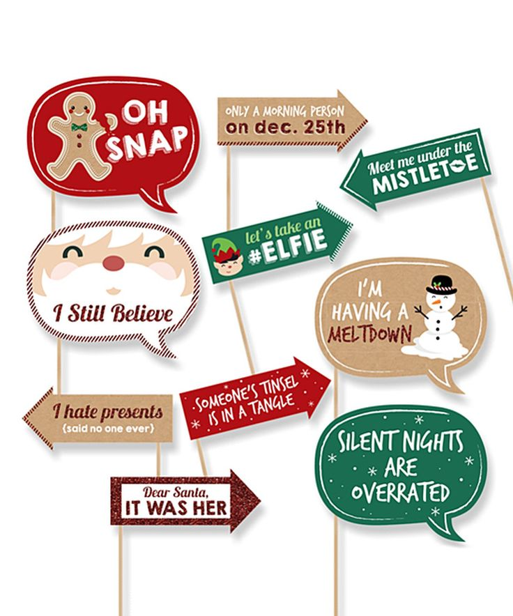 Another great find on #zulily! Funny Christmas Photo Props Set by Big Dot of Happiness #zulilyfinds