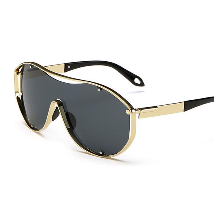 $23.60 (Buy here: https://alitems.com/g/1e8d114494ebda23ff8b16525dc3e8/?i=5&ulp=https%3A%2F%2Fwww.aliexpress.com%2Fitem%2FCool-Sunglasses-for-Men-Polarized-UV400-With-Box-High-Quality-2015-Summer-Stylish-Metal-Frame-Super%2F32449852924.html ) 2016 Cool Oversized Sunglasses Brand Designer Men High Quality Party Sun Glasses With Pouch Metal Frame Super Wide Lens 18047 for just $23.60
