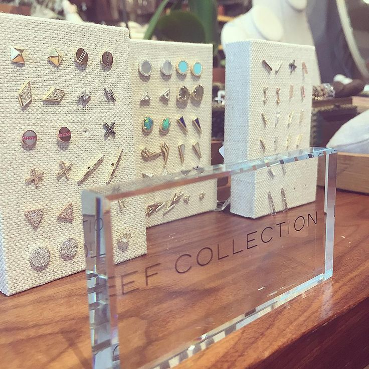 Mixing and matching studs today at our trunk show @pcdgaspen! Come by 12-5 today and tomorrow  Xo, EF #efcollection #trunkshow #pitkincountydrygoods #aspen #12to5