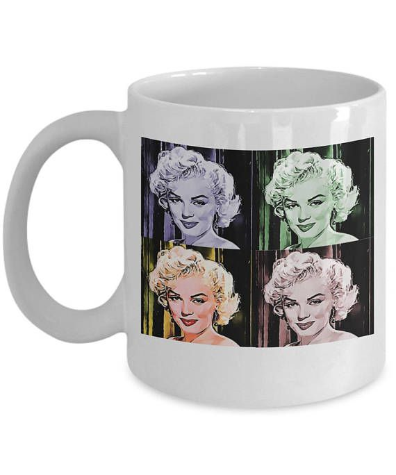This unique movie star fan coffee mug will make everyone smile. If you are looking for a gift for that Marilyn Monroe fan then check out this one. It has a beautiful art picture of 4 pictures of Marilyn. They will absolutely adore it! Just watch her face light up when you give it as a unique collectible gift. Makes a great present for Moms, Grandmothers, Aunts, Sweethearts...any movie fan. It's a feel good present you could even give at Christmas, on birthdays, Mothers Day, as a retirement…