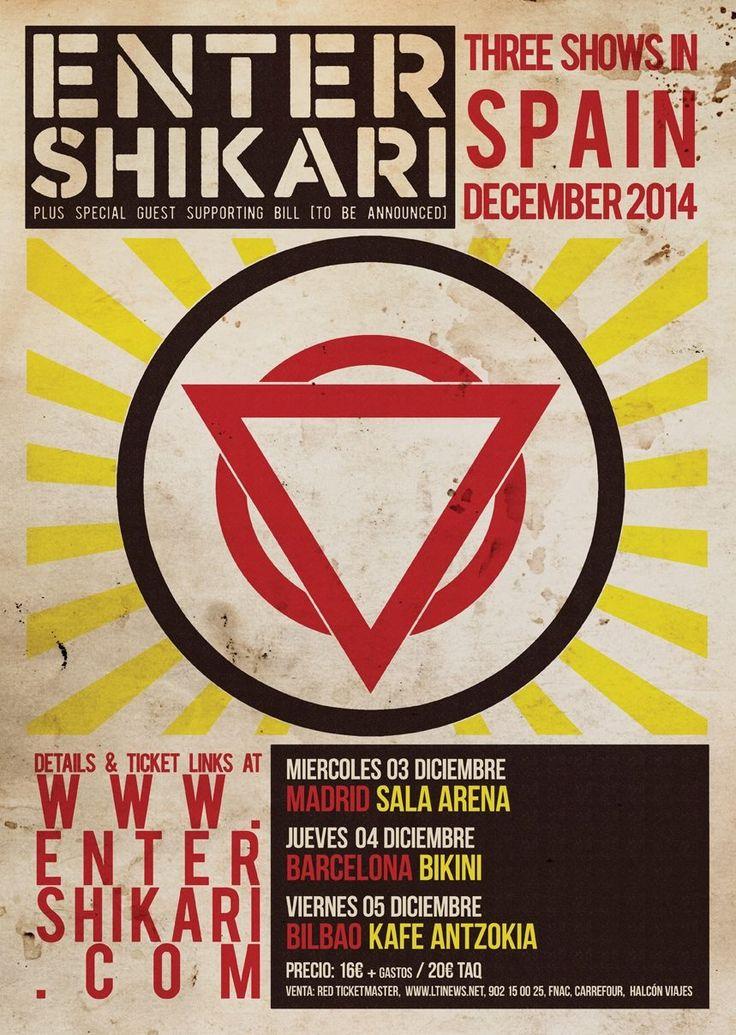 Enter Shikari tour poster, love the style
