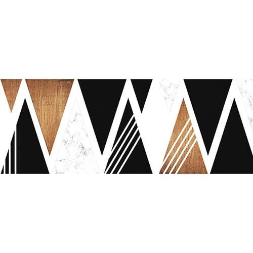 Stickers Autocollants Pour Tete De Lit Triangles Noirs Et Boises Sticker Tete De Lit Tete De Lit Noir