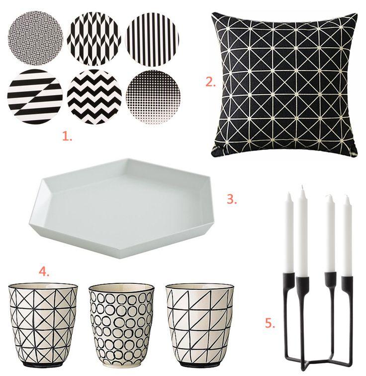 5x cadeaus: zwart wit grafische prints