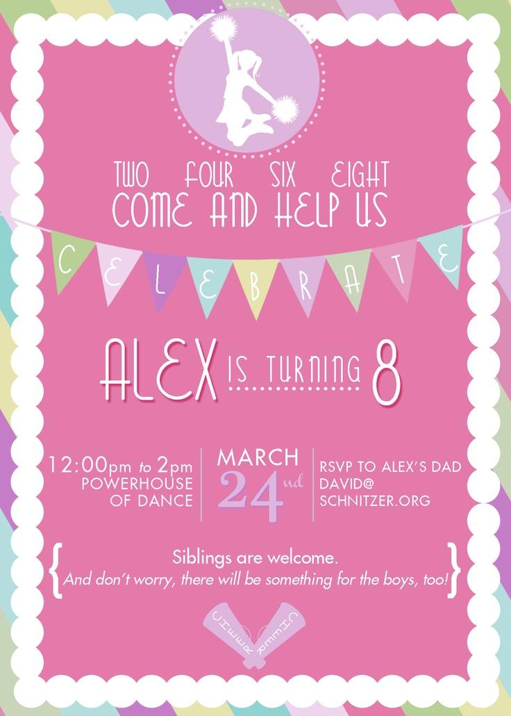 Cheerleader Birthday Party www.kjpaperie.com
