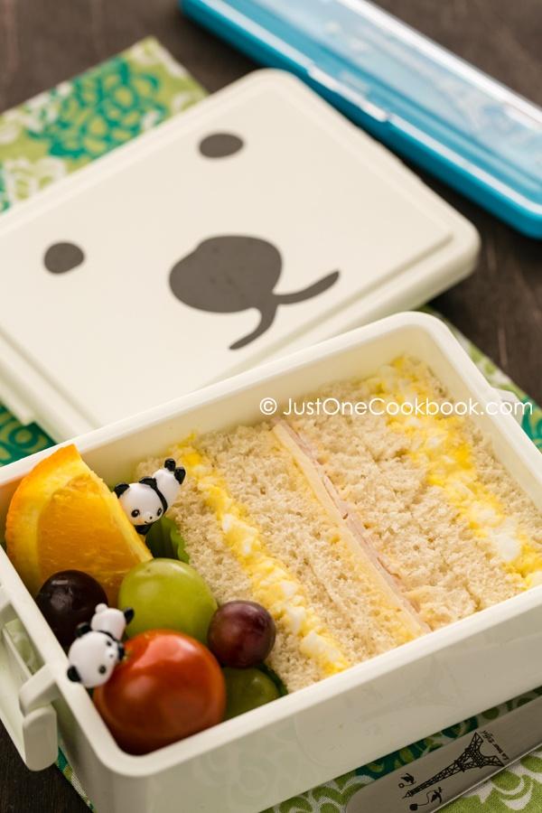 Egg Salad Sandwich Bento   JustOneCookbook.com