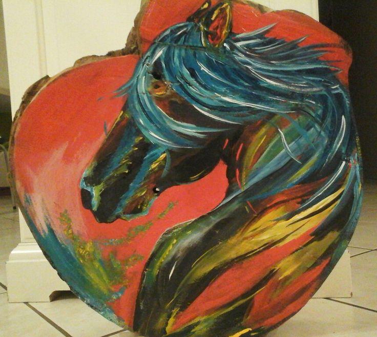 Cheval en acrylique