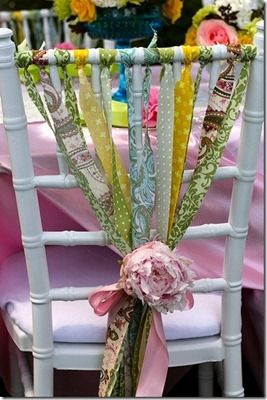 sillas decoradas con tela