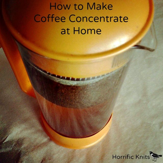 How To Coffee Concentrate for Iced Coffee