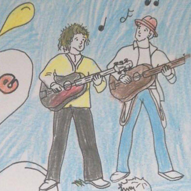 Jan&Jascha von Kids gemalt #jan #janundjascha #jascha #solingen #folk #folkmusik #folkmusic #banjo #gitarre #grundschule #kinder #talisker #irland #schottland #steelguitar #mandoline #gemalt #hamburg #bestfriends #plattenvertrag #duo #bergischesland #irishbouzouki #bouzouki #piano #klavier #goldenezeiten #folktuns #hamburg #believedigital by jan_und_jascha https://www.instagram.com/p/BF3C74-Cfnj/ #jonnyexistence #music