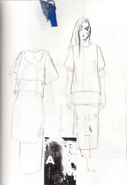 Fashion Sketchbook - fashion design sketches for H&M project; fashion portfolio // Alexandra Baldwin
