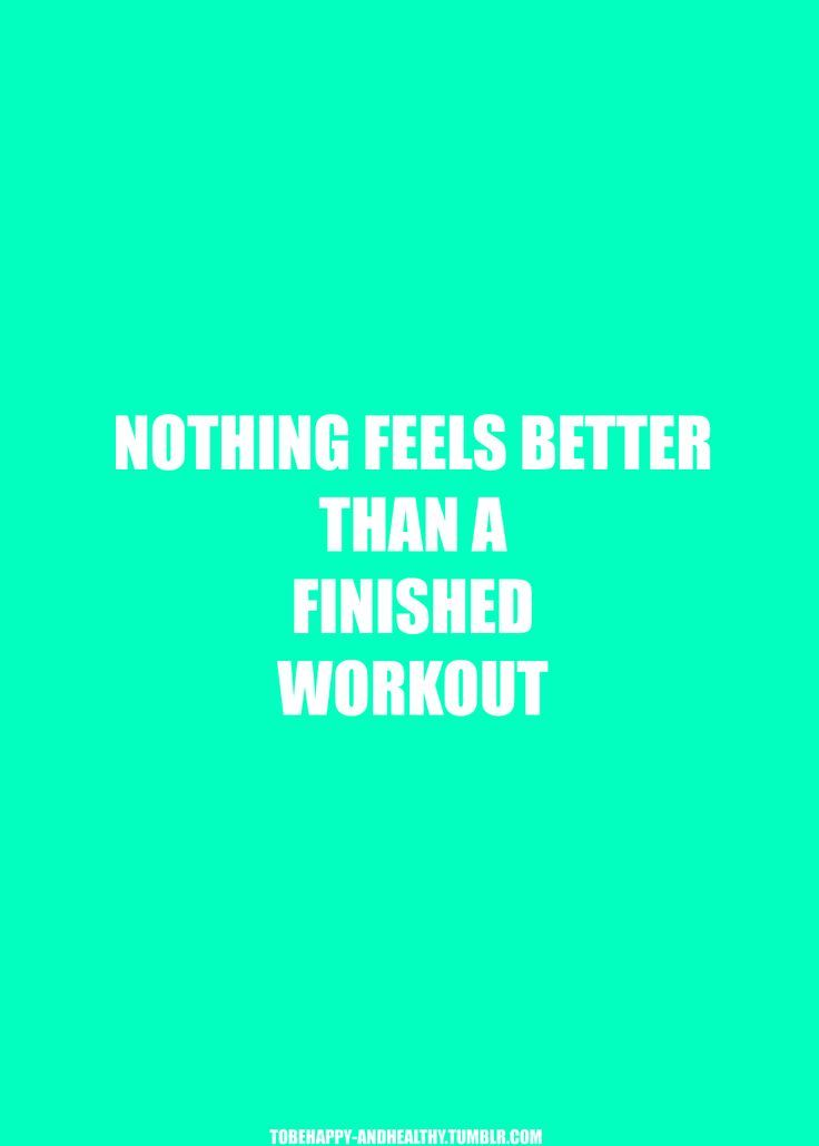 Well.....some things do feel better but I certainly love the finished workout!
