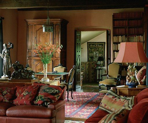ad visits candice bergen and louis malle in france home country cottage bookshelves country style bookshelves