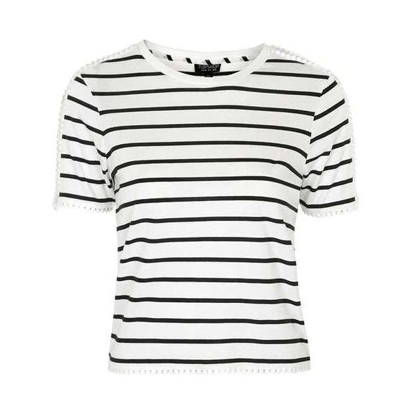 TopShop Tall Sporty Mesh Tee (565 UYU) ❤ liked on Polyvore featuring tops, t-shirts, shirts, topshop, striped, white t shirt, mesh shirt, white stripes t shirt, white stripes shirt and t shirt