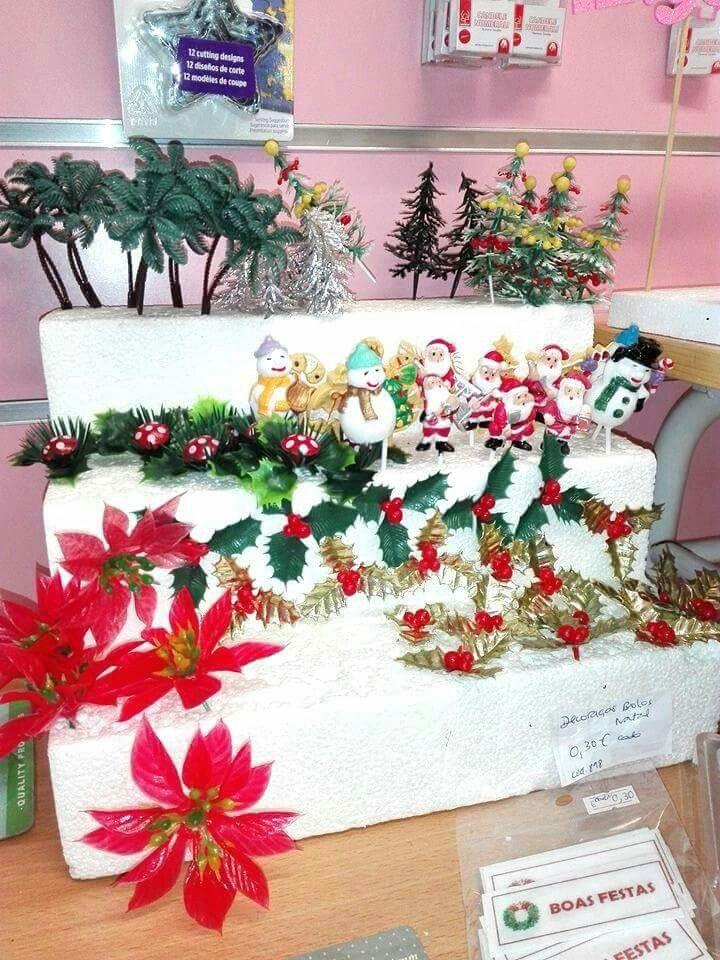 Os pormenores fazem a diferença !!! Dê um toque de beleza à sua mesa ou doce de Natal ...