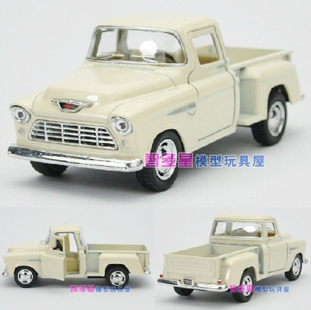 Candice guo! New arrival Kinsmart 1:32 mini 1955 Chevy pickup truck alloy model car toy gift 1pc