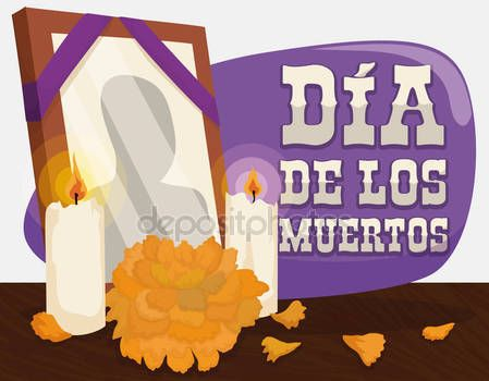 "Portrait, Marigold and Candles: Traditional Offerings for ""Dia de Muertos"""