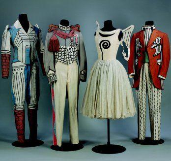 Giorgio de Chirico's costume designs for Diaghilev's Le Bal, 1929