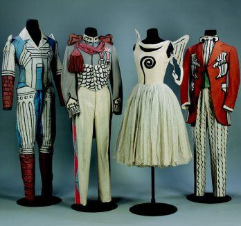 Giorgio de Chirico's costume designs and stage settings for Diaghilev's Le Bal (1929)