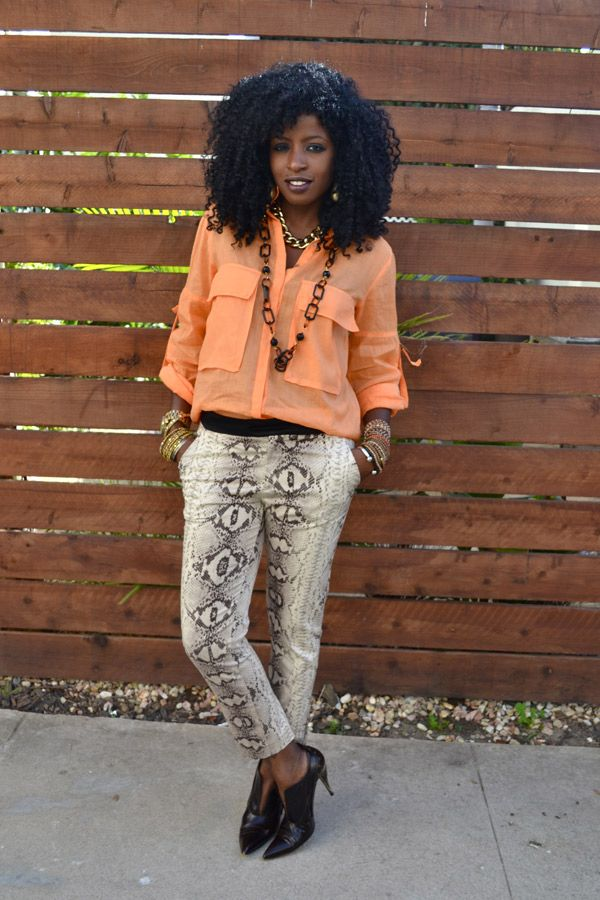 Looks - How to python wear print pants video