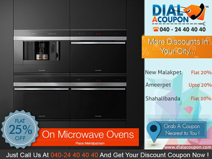 Modernize Your Kitchen With A Latest Range Of  Microwave Ovens. Dial A Coupon Helps You To Get The Best Deal On Microwave Ovens . Call Dial A Coupon @040 24 40 40 40 And Get Your Discount Coupon Now.    For More Discount Deals Please Visit: www.DialACoupon.com