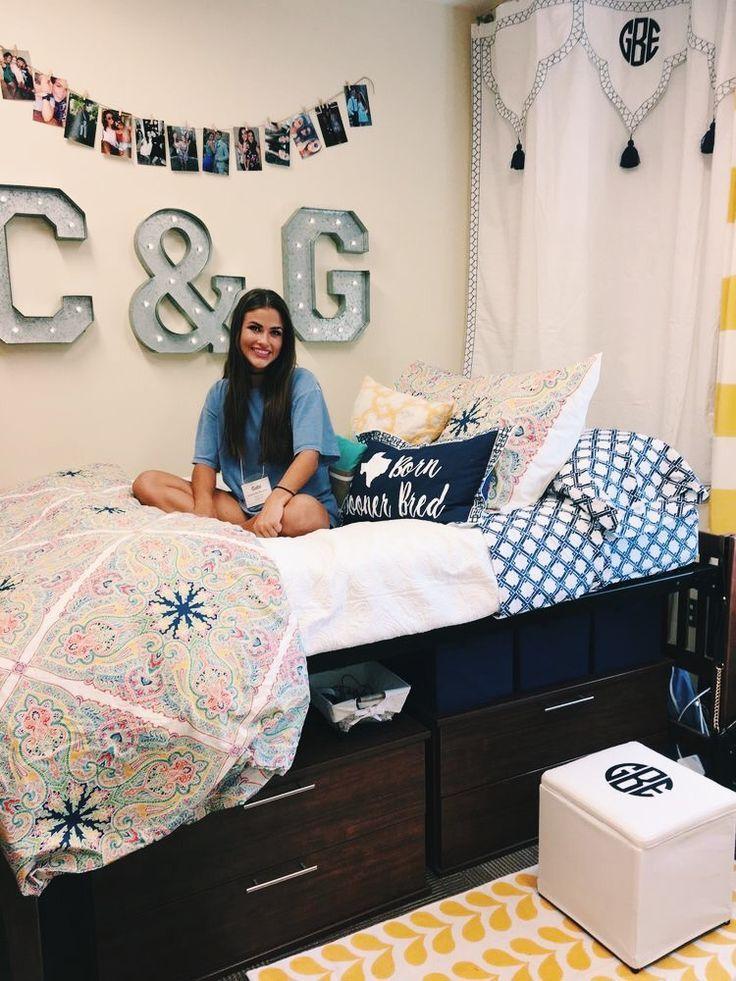 3 Space Saving Small Bedroom Ideas Diy Room Ideas Girls Dorm Room Dorm Room Inspiration Preppy Dorm Room