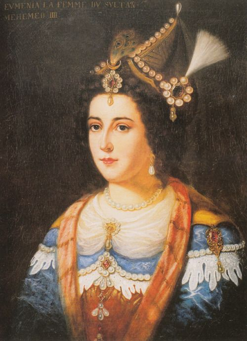 Emetullah Rabia Gülnuş Sultan (Evmenia Vergitzi) (1642-1715), the Greek wife of Sultan Mehmed IV and mother of Mustafa II and Ahmed III.